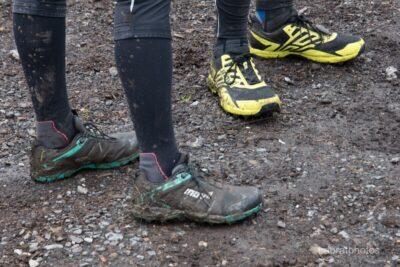Muddy paws.