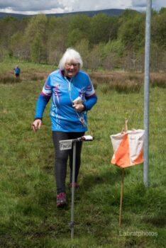 Mary PFO on the Finish line.