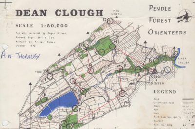 Dean Clough map only 1970