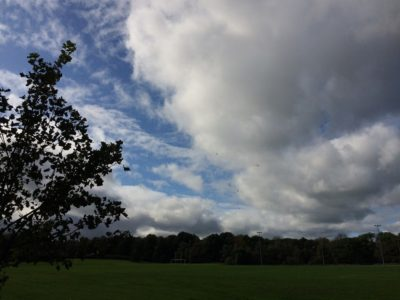 A break in the weather at Wilson Field.